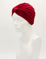 Deep Red Bamboo Turban