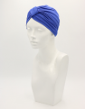 Cobalt Bamboo Pleated Turban
