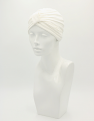 Ivory Bamboo Pleated Turban