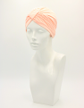Pale Pink Bamboo Pleated Turban