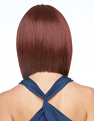 On Point wig from the back in RL33/35 Deepest Ruby