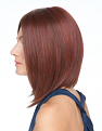 On Point Wig left side in RL33/35 Deepest Ruby